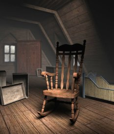 old attic-rocking chair
