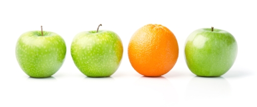 Orange Among Green Apples
